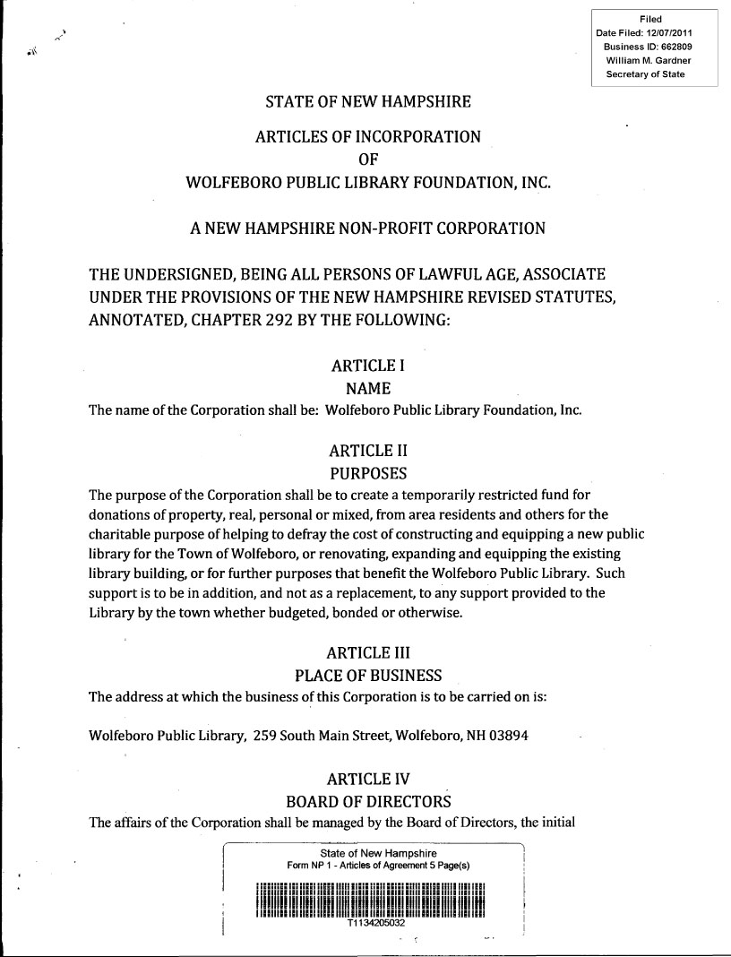 wplf nh articles of incorporaton page 1