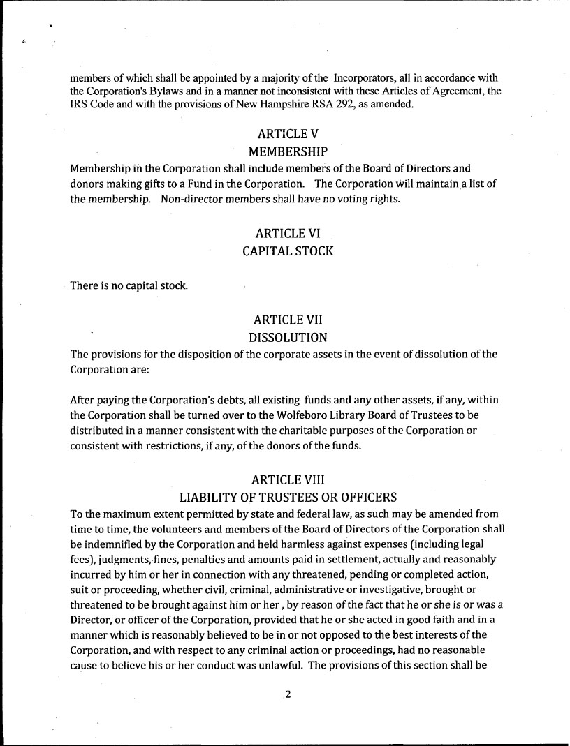 wplf nh articles of incorporaton page 2